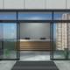 Automatic sliding open doors office